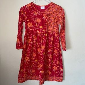 Hanna Andersson Thousand Flowers Red Cotton Dress